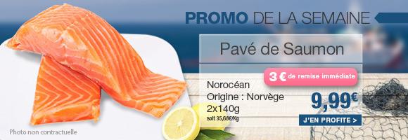Profitez de notre promotion de la semaine sur le pavé de saumon