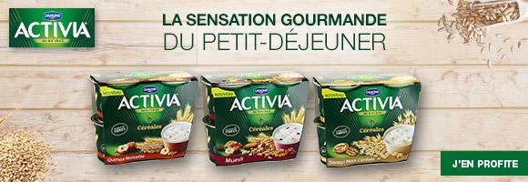 Découvrez la gamme Activia Céréales, l'alliance de l'onctuosité Activia et d'une sélection inédite de céréales. Pour de nouvelles sensations gourmandes!