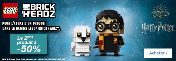 Avec les ensembles LEGO® BrickHeadz, découvre une toute nouvelle façon de collectionner, construire et exposer.