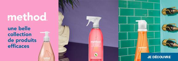 Découvrez les produits Method et nettoyez heureux :  Chouchoutez vos narines et ménagez votre huile de coude avec des produits efficaces pour toute la maison.