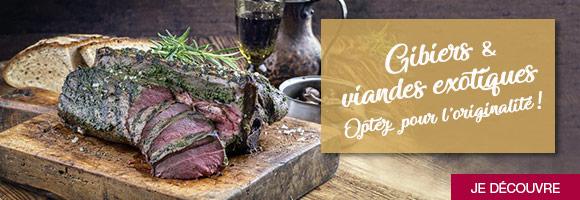 Quelle viande pour le réveillon ? Cette année, pourquoi ne pas opter pour une viande plus originale ? Sanglier, chevreuil, autruche,  kangourou et d'autres viandes exotiques s'invitent sur les tables pour apporter une touche  d'exotisme à vos repas de fêtes !