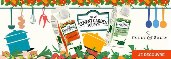 Quelle que soit l'occasion, nous avons une soupe pour vous.  Nous vous proposons une large gamme de soupe fraiche délicieuse en provenance directe d'outre-Manche.  Il y a toujours une nouvelle saveur à découvrir chez New Covent Garden et Cully & Sully. À vos cuillères...