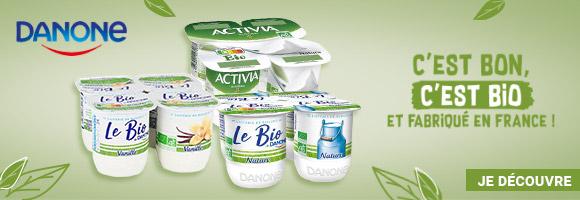 Découvrez les nouveautés Bio de Danone! C'est bon, c'est bio et fabriqué en France!
