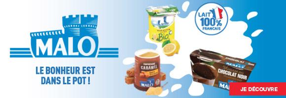 Découvrez notre gamme Malo et son expérience de 60 ans dans les produits laitiers. Malo, le bonheur est dans le pot!