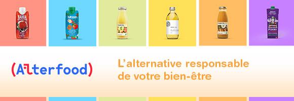 Alterfood : des produits naturels et bio. Jus de fruits, nectars, infusions et snacks pour mieux manger. Une alternative responsable de votre bien-être
