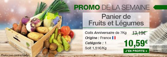 Profitez de notre promotion de la semaine sur le Colis de fruits et légumes spécial houranniversaire