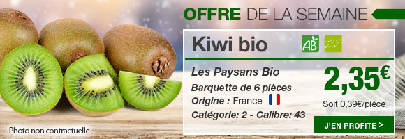 Profitez de notre OFFRE de la semaine sur le kiwi bio de chez Les Paysans Bio