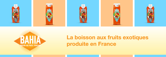 La boisson aux fruits exotiques fabriquée en France. Sans sucre ajoutée Mangue, Passion & Mate