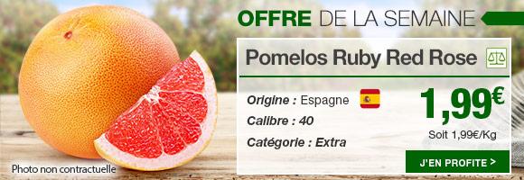 Profitez de notre offre de la semaine sur les pomelos ruby red rose