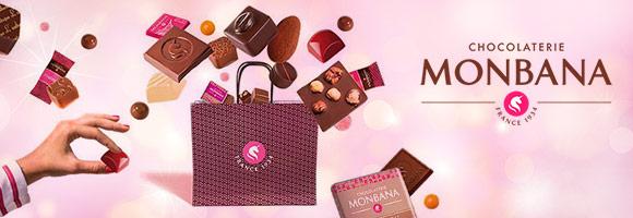 Société familiale française née en 1934, ce sont trois générations de passionnés de chocolat qui ont permis  à la Chocolaterie MONBANA de devenir l'une des plus créatives de son secteur. Spécialiste historique du chocolat en poudre,  la Chocolaterie MONBANA a su se diversifier avec succès et propose aujourd'hui une collection de plus de 350 spécialités  qui explorent le chocolat sous toutes ses formes : à boire, à croquer, à déguster, à cuisiner, à offrir ou à s'offrir…