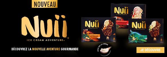 Découvrez NUII, la nouvelle marque de bâtonnets pour une aventure gourmande hors du quotidien : Quelle saveur vous plongera dans l'immensité des paysages désertiques d'Australie, dans la fraîcheur vivifiante des Pays Nordiques ou dans l'exotisme luxuriant de la jungle de l'île de Java. Chaque bâtonnet NUII est préparé avec de la crème onctueuse et enrobé de délicieux chocolat craquant. Savourez des recettes qui regorgent de textures et de saveurs exaltantes