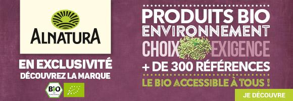 Découvrez la marque ALNATURA, des produits bio, sains et accessible à tous.