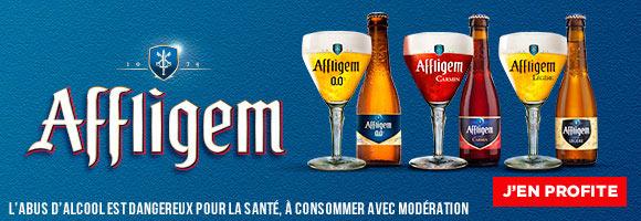 Nées en Belgique en 1074, les bières d'Affligem® sont des bières d'Abbaye issues d'un savoir-faire, de recettes et d'une exigence qui ont traversé les siècles. Encore aujourd'hui, les moines sont les garants du goût et approuvent chaque année les recettes avec soin. Les bières Affligem® sont d'ailleurs toujours brassées dans une petite brasserie à quelques kilomètres de l'Abbaye. Elles peuvent donc porter haut le label « Bière belge d'Abbaye reconnue », une distinction que seule une vingtaine de bières belges peut arborer !