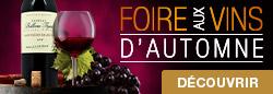 Du 16 spetembre au 6 octobre 2019, profitez de la Foire Aux Vins d'automne sur une sélection de vin en promo !