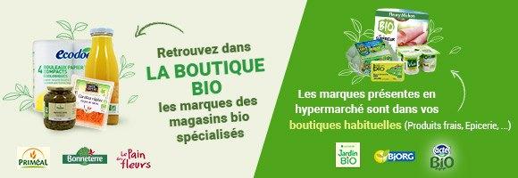 Vous retrouverez dans La Boutique Biologique exclusivement les marques réservés aux magasins spécialisés Bio. Les marques bio présentes en hyper ou supermarchés sont dans les boutiques traditionnelles