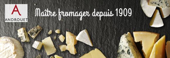 houra.fr vous propose une sélection de fromages Androuet à faire livrer directement avec vos courses. Maître fromager depuis 1909, pour la Maison Androuet le maintien de la grande tradition des fromages gastronomiques et la quête permanente de la qualité sont essentiels . Cette exigence implique de défendre et d'enrichir un savoir-faire unique tant dans l'art de l'affinage que dans la sélection des producteurs et des fromages fermiers. Découvrez des fromages de qualité, au lait cru, affinés selon un procédé ancestral. Comté, Camenbert, Reblochon, Mimolette, Roquefort, Saint-Nectaire,  Livarot, Fourme, Abondance, Beaufort ou Brie le plus difficile sera de choisir.