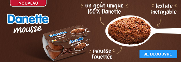 Découvrez la nouvelle Danette mousse et l'incroyable texture de sa mousse fouettée, pour un goût unique 100% Danette !Danone D.P.F.F RCS Bobigny 672039971