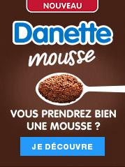 Découvrez la nouvelle Danette mousse et l'incroyable texture de sa mousse fouettée, pour un goût unique 100% Danette !