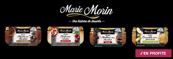 Découvrez nos promotions sur les desserts Marie Morin, et délectez-vous de ces recettes « de maman » comme si elles avaient été préparées à la maison.