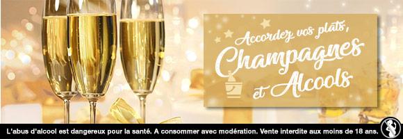 Pour fêter Noël et le réveillon de façon pétillante, retrouvez notre sélection de champagnes et alcools (whisky, gin, vodka, rhum...) pour faire plaisir où vous faire plaisir. houra.fr fait buller d'envie vos repas de fin d'année !