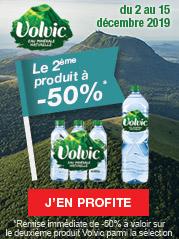 Du 2 au 15 décembre 2019, profitez de la remise immédiate de -50% à valoir sur le deuxième produit VOLVIC parmi la sélection