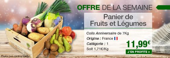 Profitez de notre offre de la semaine spécial 20 ans avec notre panier de fruits et légumes