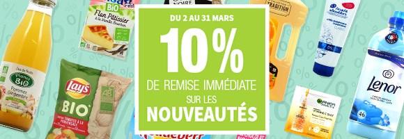Jusqu'au 31 mars, houra vous offre 10% de remise immédiate sur tous les produits en nouveauté