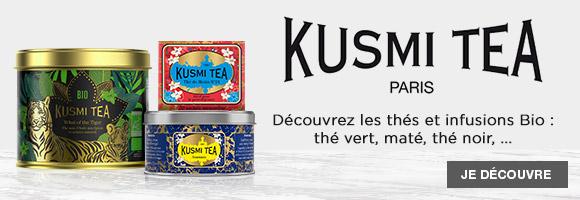 Le savoir-faire des thés Kusmi Tea réside dans la création de goûts inédits et originaux développés grâce à une connaissance parfaite des arômes naturels issus des meilleurs fruits, fleurs et épices. L'histoire de la marque Kusmi Tea commence au XIXème siècle : Pavel Kousmichoff crée des goûts russes avec des fruits, des fleurs et des épices pour réjouir les papilles de la haute société de Saint Pétersbourg. Au XXème siècle, Kusmi Tea crée des mélanges gourmands et développe sa gamme pour plaire aux initiés qui recherchent de nouvelles saveurs. Maintenant, Kusmi Tea oriente son action vers l'Homme et la planète. Depuis deux ans Kusmi Tea va résolument vers le tout bio sous le patronage bienveillant du WWF. Dans le même temps, la marque réduit son empreinte carbone en produisant en France. Parallèlement, elle réduit l'usage de plastiques dans les emballages qui seront bientôt 100% recyclables. Pour cela, Kusmi Tea développe et fabrique avec soin des produits de qualité au sein de ses ateliers français.