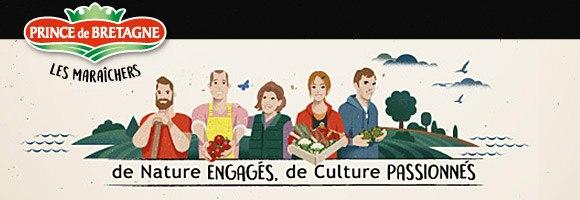 Prince de Bretagne est la marque des maraîchers bretons, passionnés et engagés au quotidien, créée en 1970, il y a 50 ans. Chaque jour, ils cultivent de Brest à Saint-Malo des fruits et légumes de qualité en faisant des pratiques agroécologiques une de leurs priorités. Prince de Bretagne en quelques chiffres, c'est : 1700 maraîchers (dont 151 en bio), 141 variétés de fruits et légumes et environ 450 000 tonnes de légumes par an (dont près de 30 000 tonnes en bio).