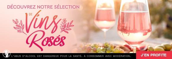Il reste le parfait complice de nos étés et accompagne avec élégance les plus belles tables. Comme pour le vin rouge ou le vin blanc, houra.fr vous propose une judicieuse sélection de cuvées, avec notamment les appellations Côtes de Provence, Bandol, Colliours... C'est l'occasion de renouveler votre cave de vins rosés avec des bouteilles du Pays de Loire, de Corse, du Sud Ouest et bien d'autres régions. N'oubliez pas que l'abus d'alcool est dangereux pour la santé, et doit être consommé modérément.