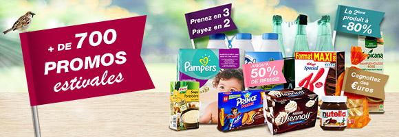 Cet été, profitez de plus de 700 promotions sur vos produits du quotidien et marques préférées.