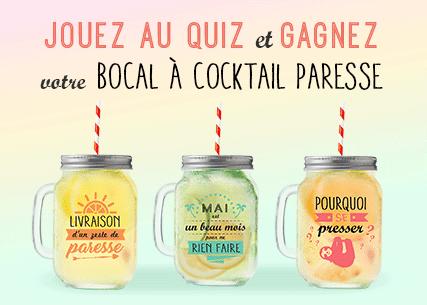 Jouez au quiz sur houra.fr et gagnez votre bocal cocktail du Mois de la Paresse