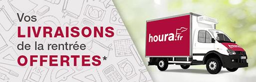 houra.fr,  vos livraisons offertes du 27 août au 16 septembre 2018. Gagnez du temps en commandant vos courses en ligne.