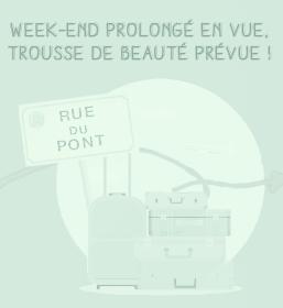 Case jeu Chemin de la Paresse 7 & 8 mai - Une trousse de voyage et une enceinte portable