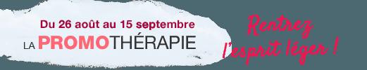 du 26 août au 15 septembre - La promothérapie - rentrez l'esprit leger