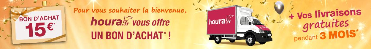 15 euros offerts + 3 mois de livraison offertes pour tous nouveaux clients