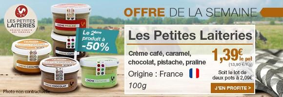 Profitez de notre offre de la semaine sur les crèmes Les Petites Laiteries