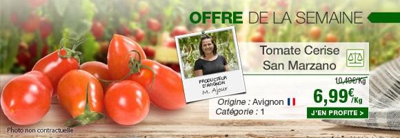 Profitez de notre offre de la semaine sur la Tomate Cerise San Marzano