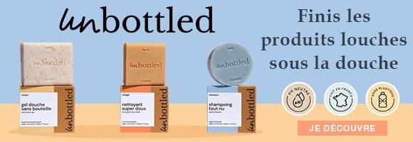 Découvrez Unbottled la nouvelle marque de cosmétique solide, avec Unbottled finis les produits louches sous la douche