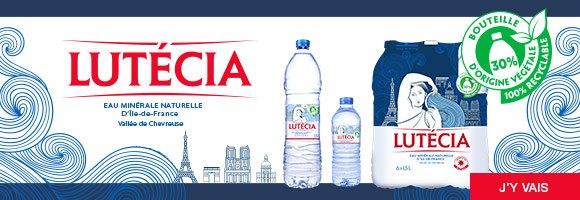 La seule eau minérale d'Île-de-France. Différente d'une eau de source classique et de l'eau du robinet, Lutécia est naturelle, non traitée, pauvre en sodium et faiblement minéralisée. Des caractéristiques qui font d'elle une eau d'une très grande pureté.