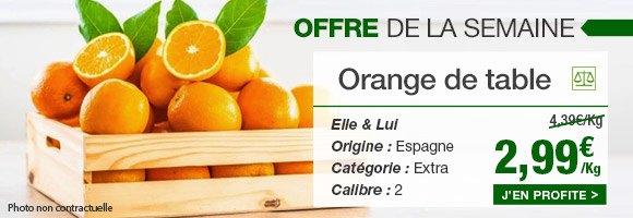 Profitez de notre offre de la semaine sur l'orange de table de chez Elle & Lui