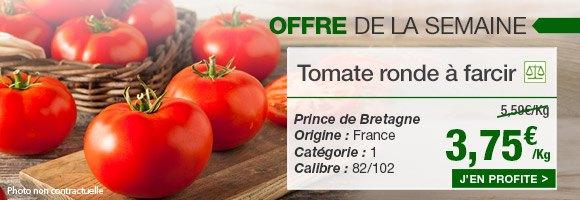 Profitez de notre offre de la semaine sur la tomate ronde à farcir de chez Prince de Bretagne