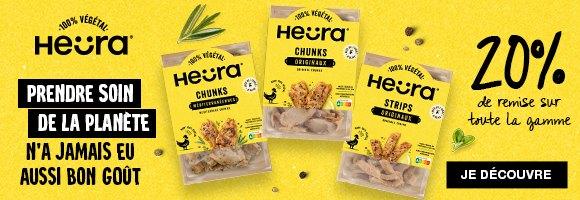 Découvrez Heüra,  la nouvelle alternative 100% végétale ! Pour agrémenter vos burgers, barbecues, salades, et toutes autres créations culinaires végétariennes. Sans conservateurs, sans colorants, respectueux de l'environnement et 100% végétal, dégustez vite ces nouvelles saveurs.