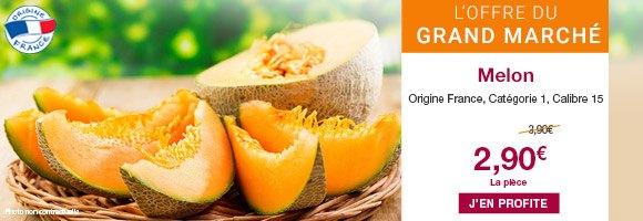 Profitez de notre offre du grand marché sur le melon