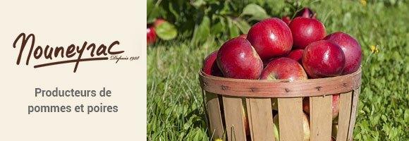Mouneyrac : Producteurs La marque Mouneyrac propose une large gamme de pommes et de poires sur l'ensemble de la saison. Mouneyrac ce sont de véritables professionnels de la pomiculture, exprimant une forte motivation pour la qualité, la valorisation de leur terroir et le respect des bonnes pratiques agricoles. Artisans essentiels du succès de la marque Mouneyrac, les partenaires producteurs mettent en adéquation stratégie variétale et typicité du terroir. Passion et savoir faire uniques de ces producteurs se retrouvent ainsi dans tous les fruits.