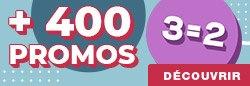 Plus de 400 PROMOS 3 pour 2