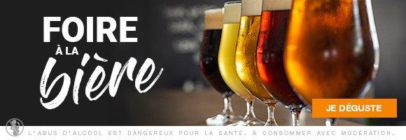 Du 10 Mai au 23 Mai 2021, à l'occasion de La Foire à la Bière, profitez de nombreuses promotions sur nos coffrets et packs. L'abus d'alcool est dangereux pour la santé, consommez avec modération.