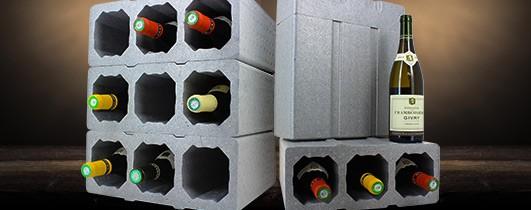 compartiment polystyrène pour les vins de rêve