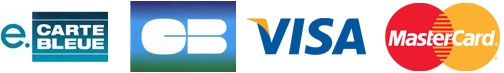 houra.fr accepte les cartes bleues suivante: CB, mastercad, visa, e-carte