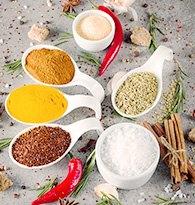 Sel, épices, aides à la cuisine